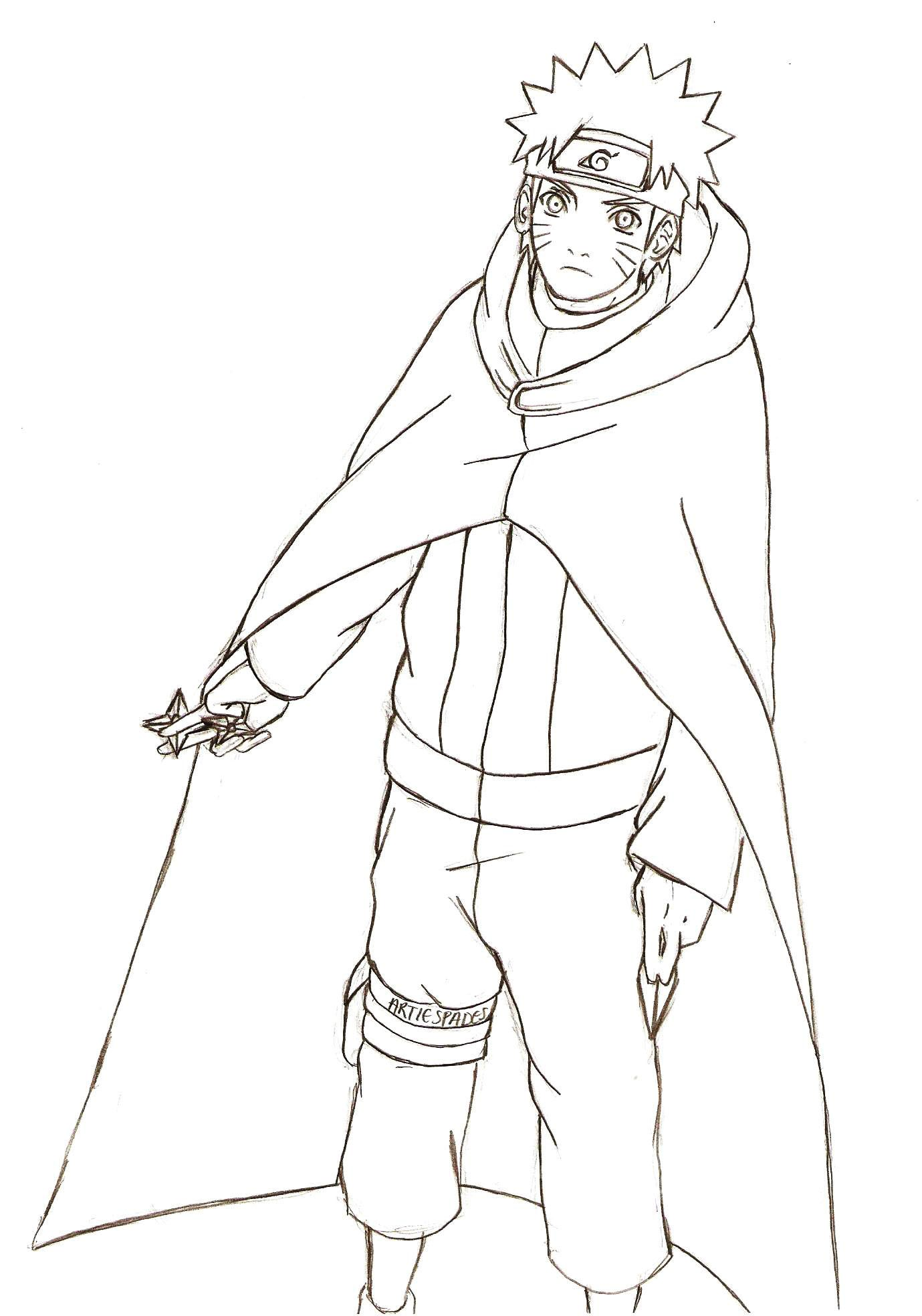 Naruto Robe Coloring Pages For Kids Printable