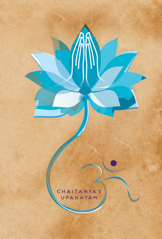 Lotus Blessing Blue Thread Ceremony Invitation Cards And Ecards