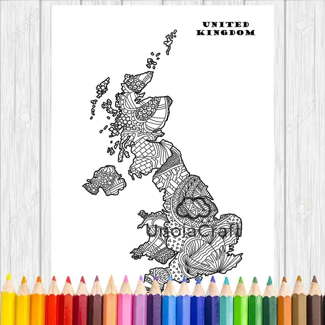 Uk Map Colouring Page United Kingdom Coloring Sheet Map Colouring Book Kids Colouring Book Zentangle Pirate Coloring Pages Coloring Pages Coloring For Kids