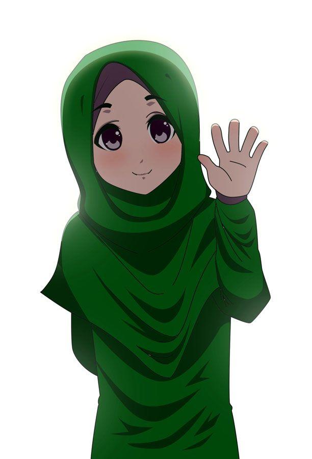 Hijab Muslimah Anime Drawing Drawing Animasi Kartun