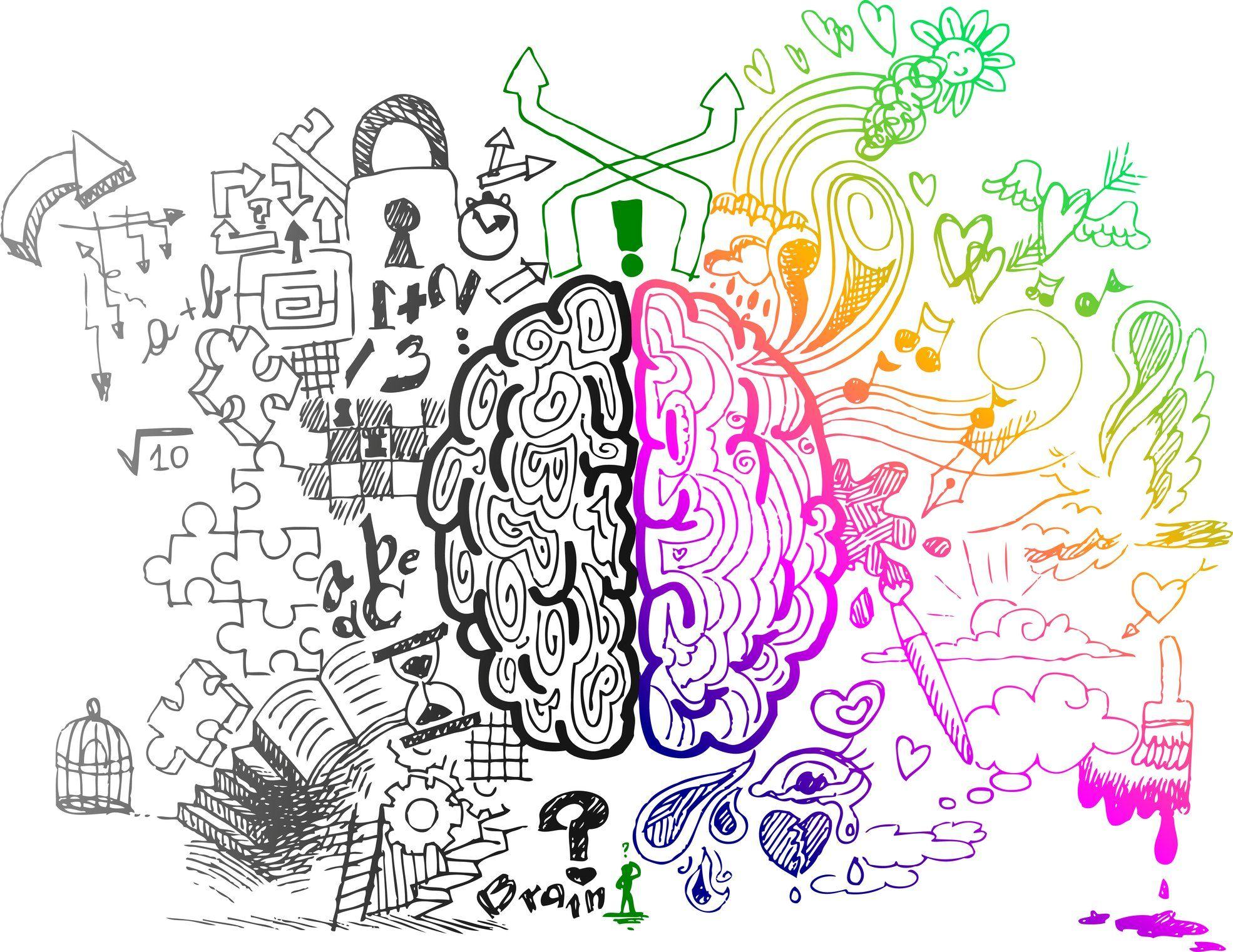 Left and Right Brain Hemispheres Wallpaper | Brain art, Brain ...