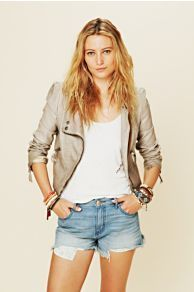 Double Breasted Vegan Leather Jacket...    $119.95