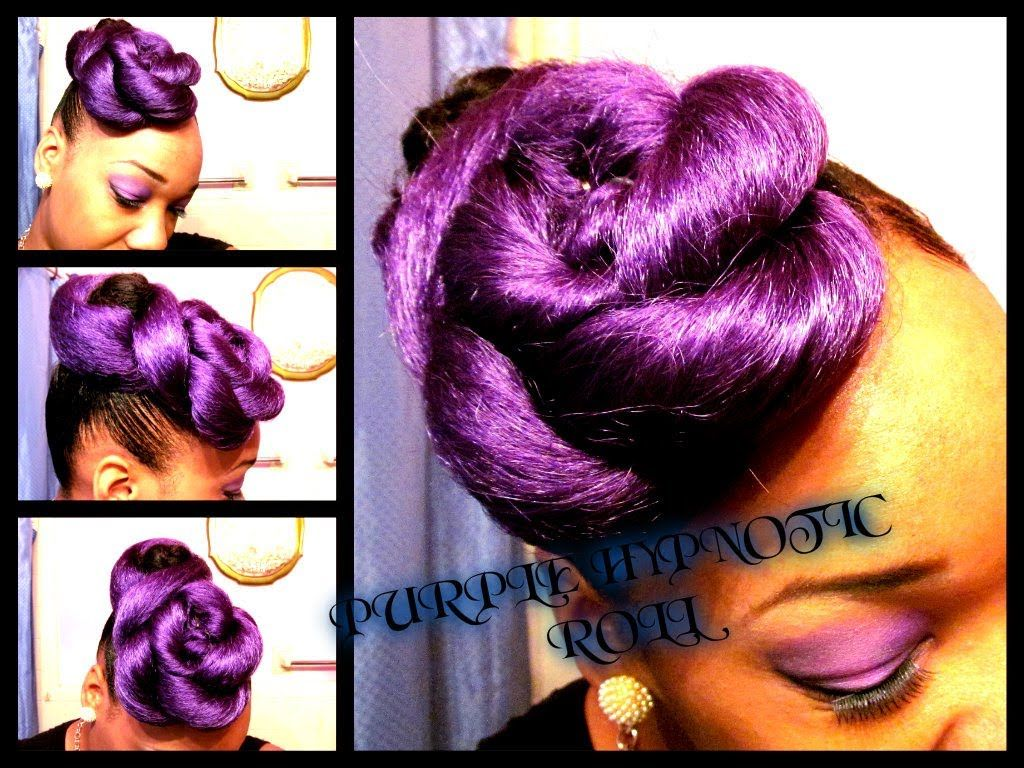 Purple hypnotic roll inspired by stepnrepeat all things hair