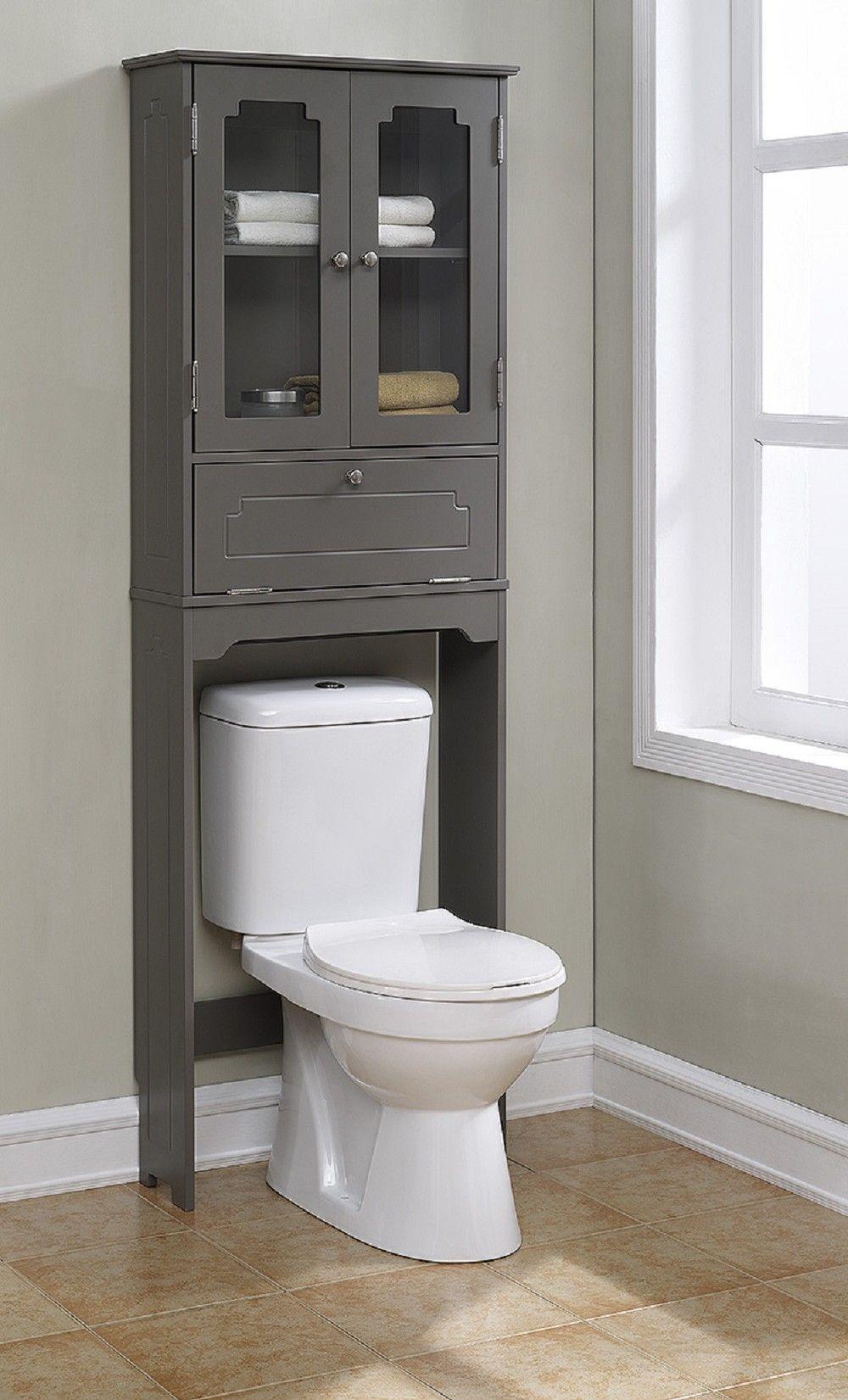Features: -Elegant etagere with 2 glass doors, 1 adjustable shelf, 1 ...