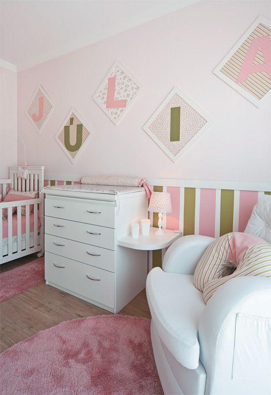 Quarto de bebê rosa e verde ocupou o velho canto da  ~ Quarto Rosa E Verde