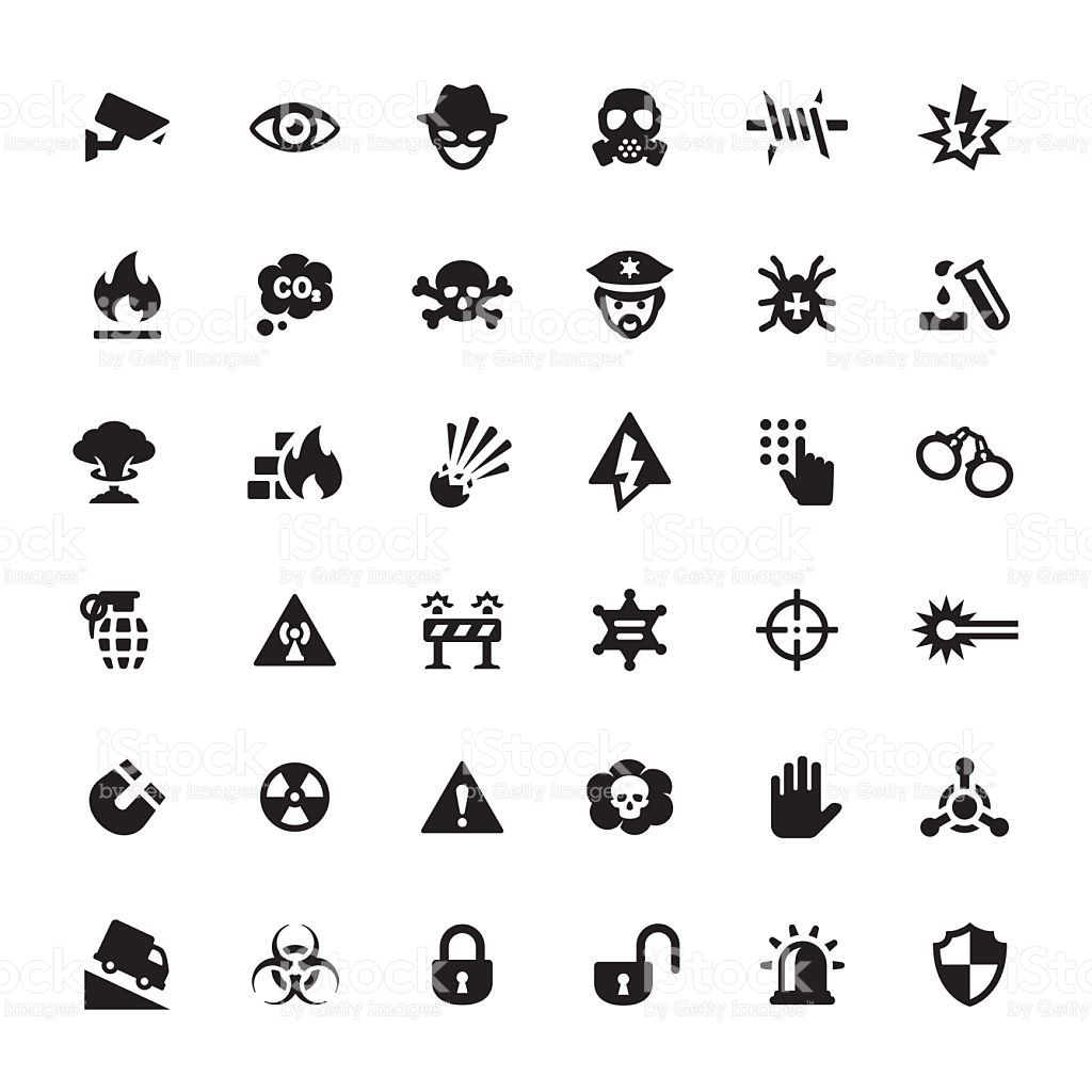 Warning Amp Security Related Symbols And Icons