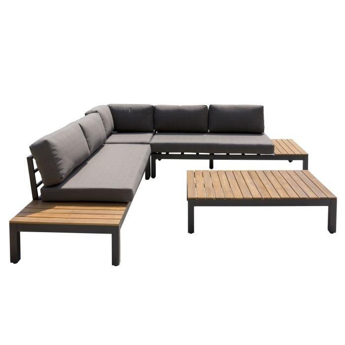 HANA Salon de jardin en bois d\'acacia - canapé mod | exterieur ...