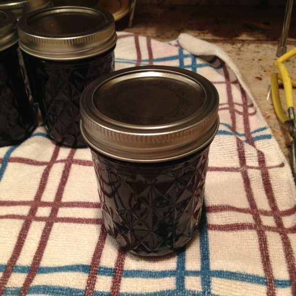 Making and Canning Blueberry Jam