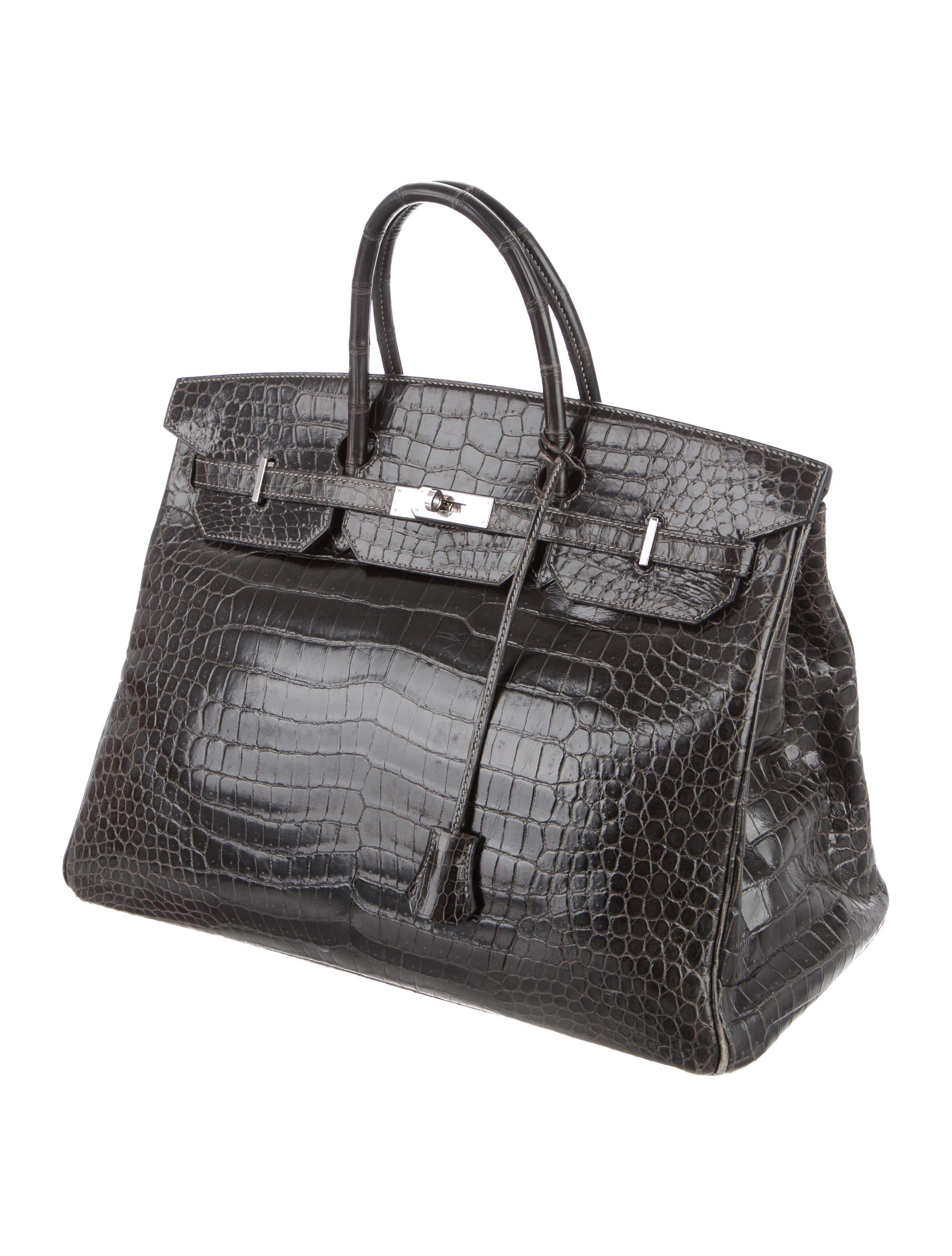 f3950bee6946 Men s Vert Bronze Porosus crocodile Hermès Birkin 40 with palladium hardware
