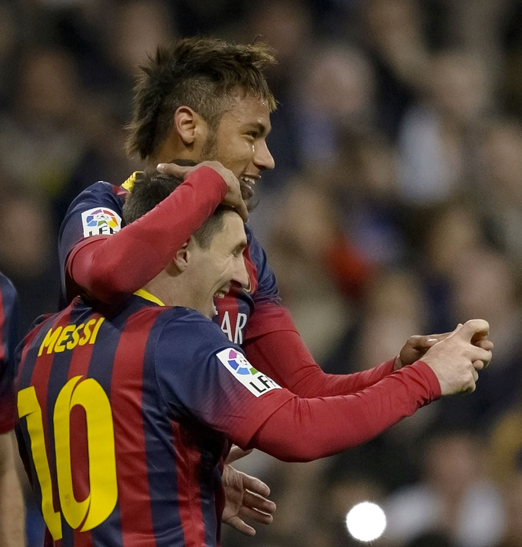 Messi and James. Neymar, Messi, Messi fans