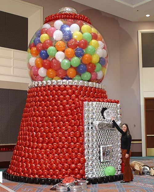 Giant gumball machine balloon balloon ideas pinterest for Balloon decoration machine