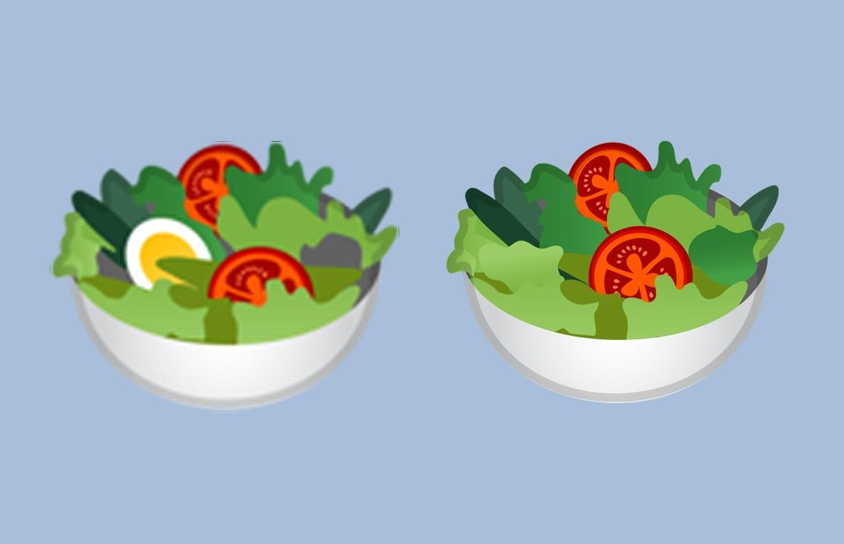 Google Made Its Salad Emoji Vegan And Twitter Is Upset Vegan Salad Vegan Emoji