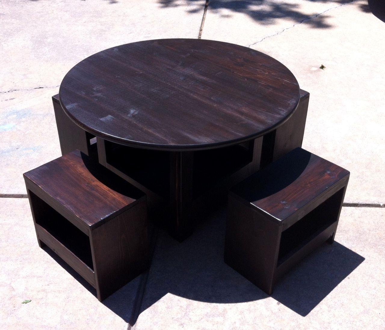 DIY Kids Storage Table  Stools  DIY kid table  chairs