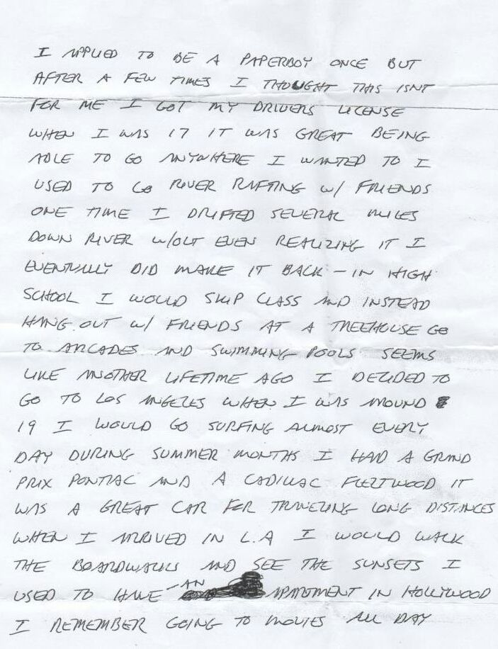 letter written from prison to a penfriend by richard ramirez