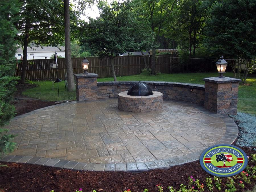 Patio Designs With Fire Pit Sitting Walls Alexandria Va