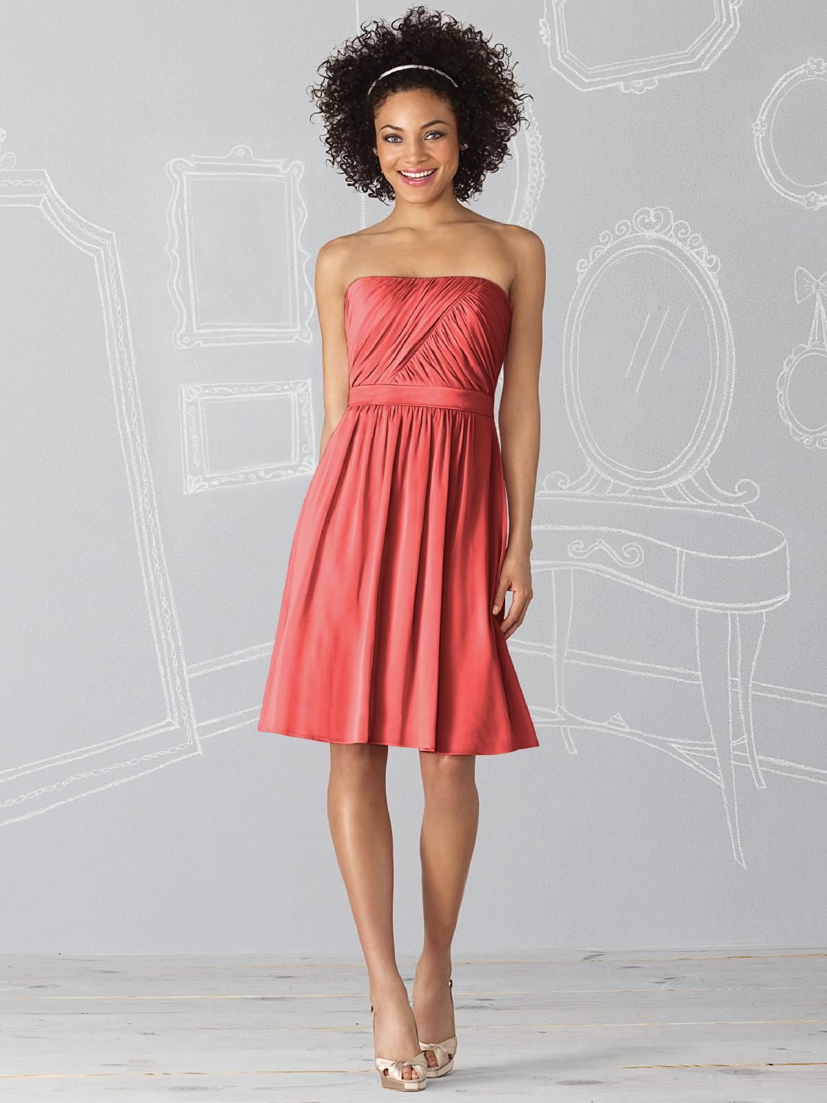 These and everyone in a different shade of redcoralorange these and everyone in a different shade of redcoralorange jade bridesmaid dressesyellow ombrellifo Images