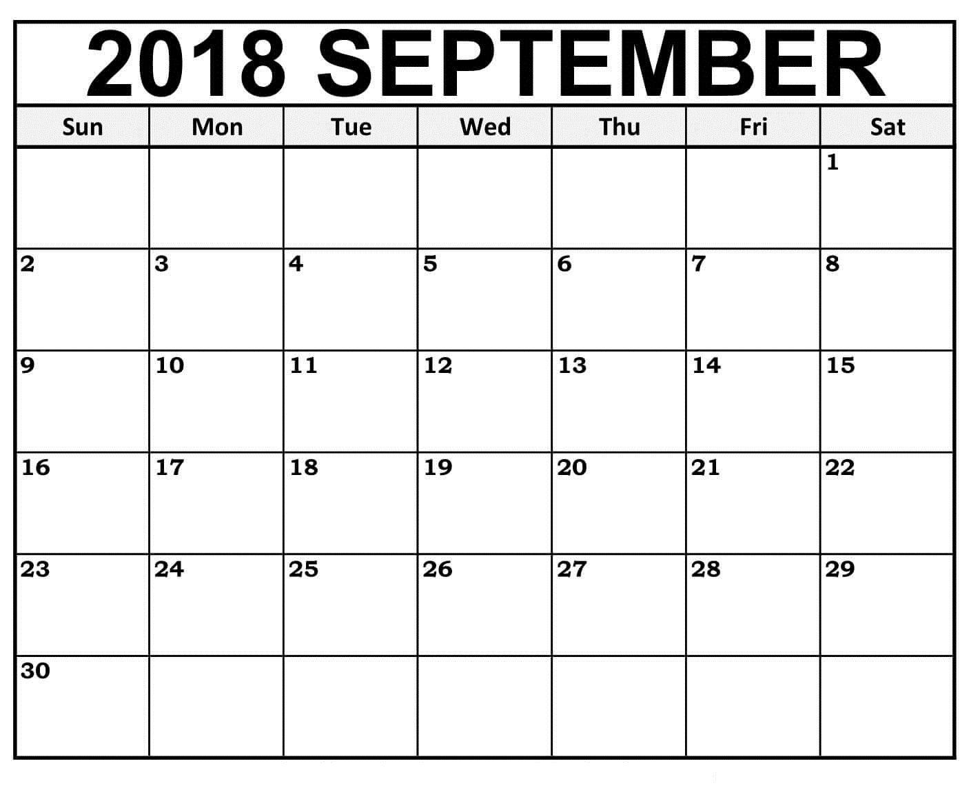 2018 September Calendar Word Document Format Easily Use For Office Purpose Calendar 2019 Printable Calendar Printables June 2019 Calendar