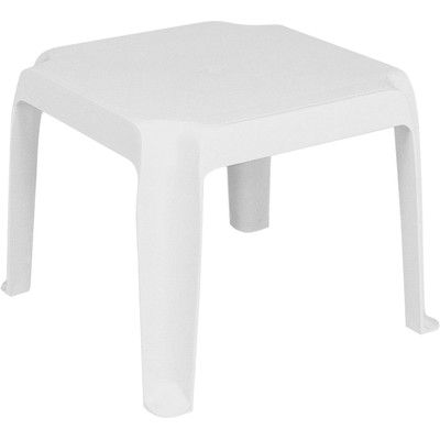 Red Barrel Studio Snake River Plastic Side Table Square Side