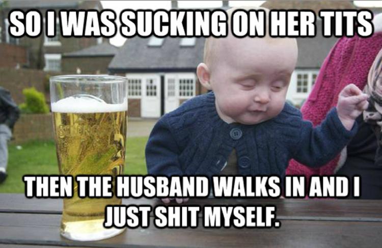 24dc2f117e12ba11891c483defd52869 drunk baby meme kid drinking beer peek a boo guy funny pics