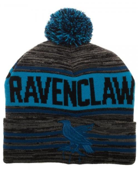 892d1744040 Show off your house pride with this pom-pom beanie featuring the colors of  Ravenclaw.  ad  harrypotter  hogwarts  ravenclaw  winter  hat  cap