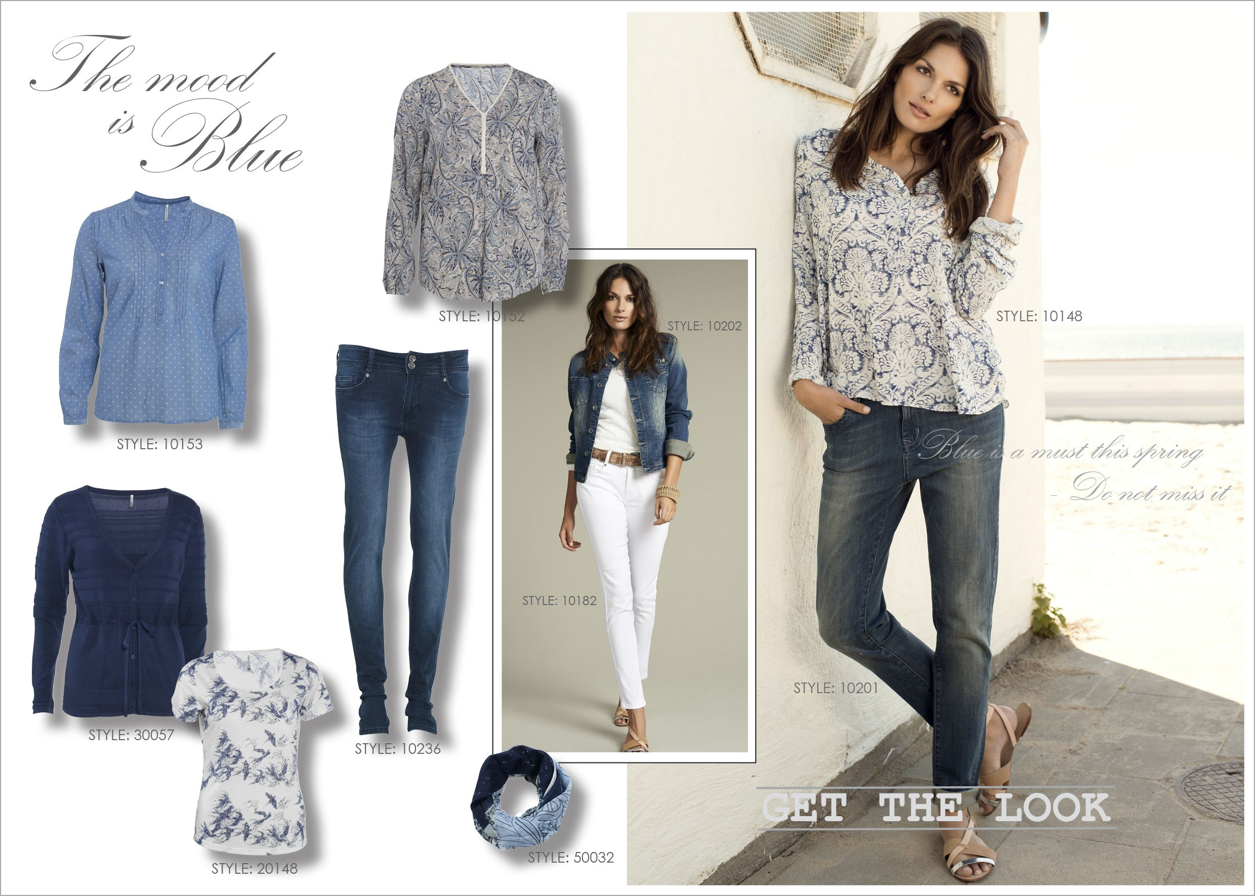 Soyaconcept, Spring Fashion, The Mood Is Blue, Jeans, Shirt, T