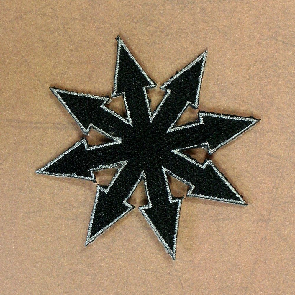 Embroidered Chaos Symbol Patch Chaos Theory Sewiron On Black W