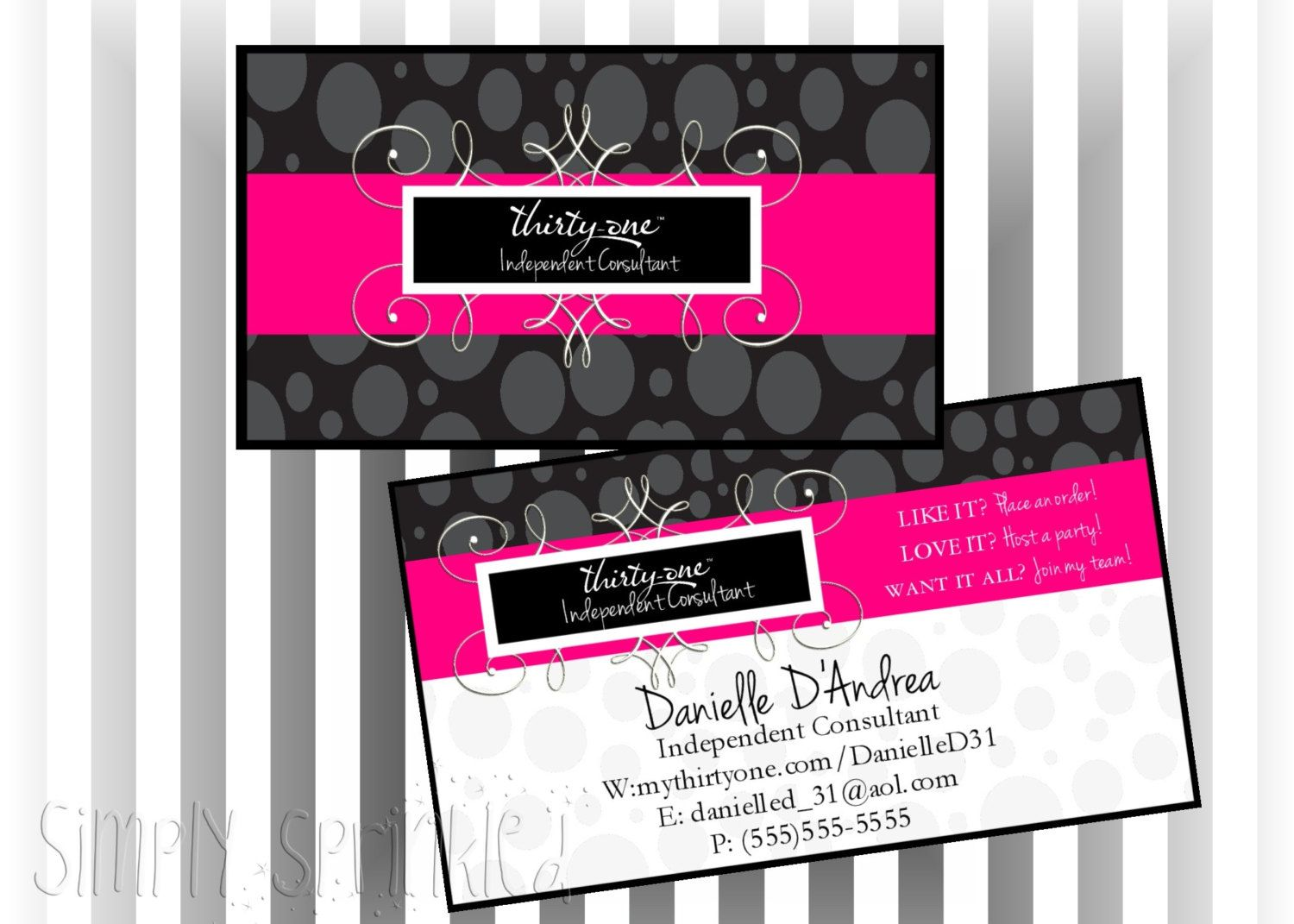 Thirty-One Business Card V2- DIY Printable by Simply Sprinkled ...