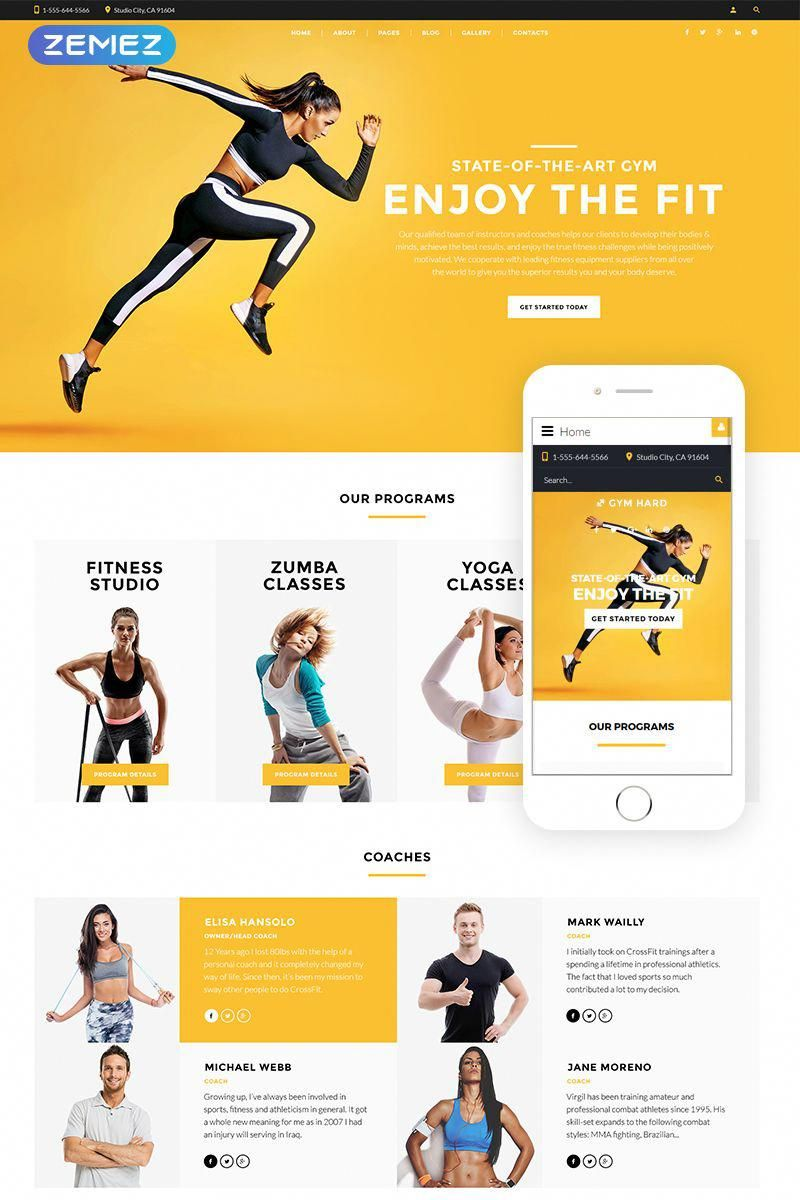 Fitness and Zoomba studio - Dance Studio Multipage Clean Joomla Template, #studio #Dance #Fitness #Z...