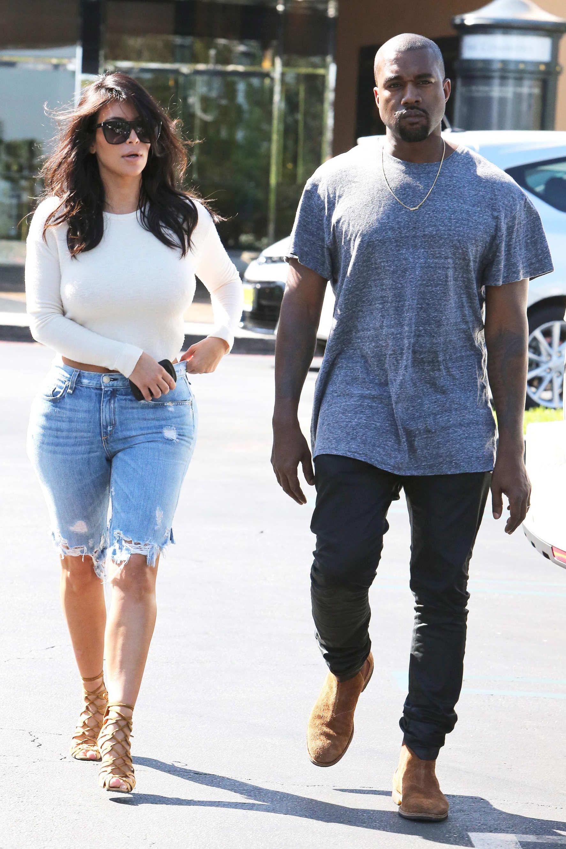 b3a5781b2ac0e Kim Kardashian Wore Curious Knee-Length Jorts