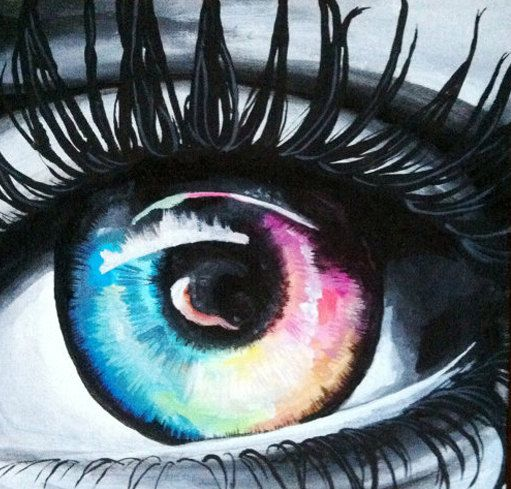 12x12+Colorful+Eye+Painting+by+SweetSerendipity01+on+Etsy,+$50.00