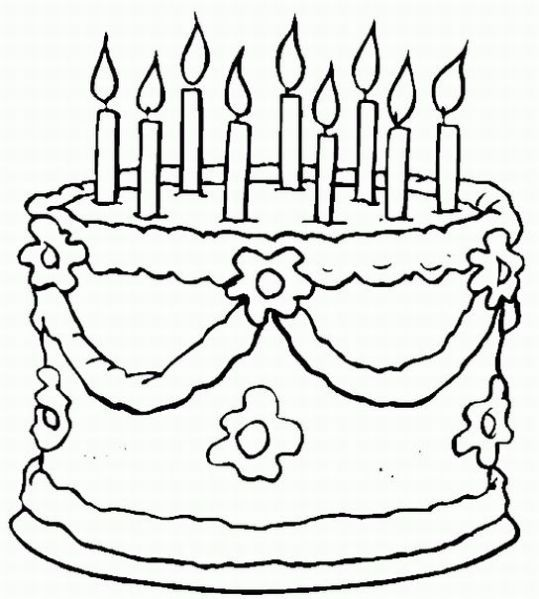 Birthday Cake Coloring Sheets FreeCakePrintable Coloring Pages