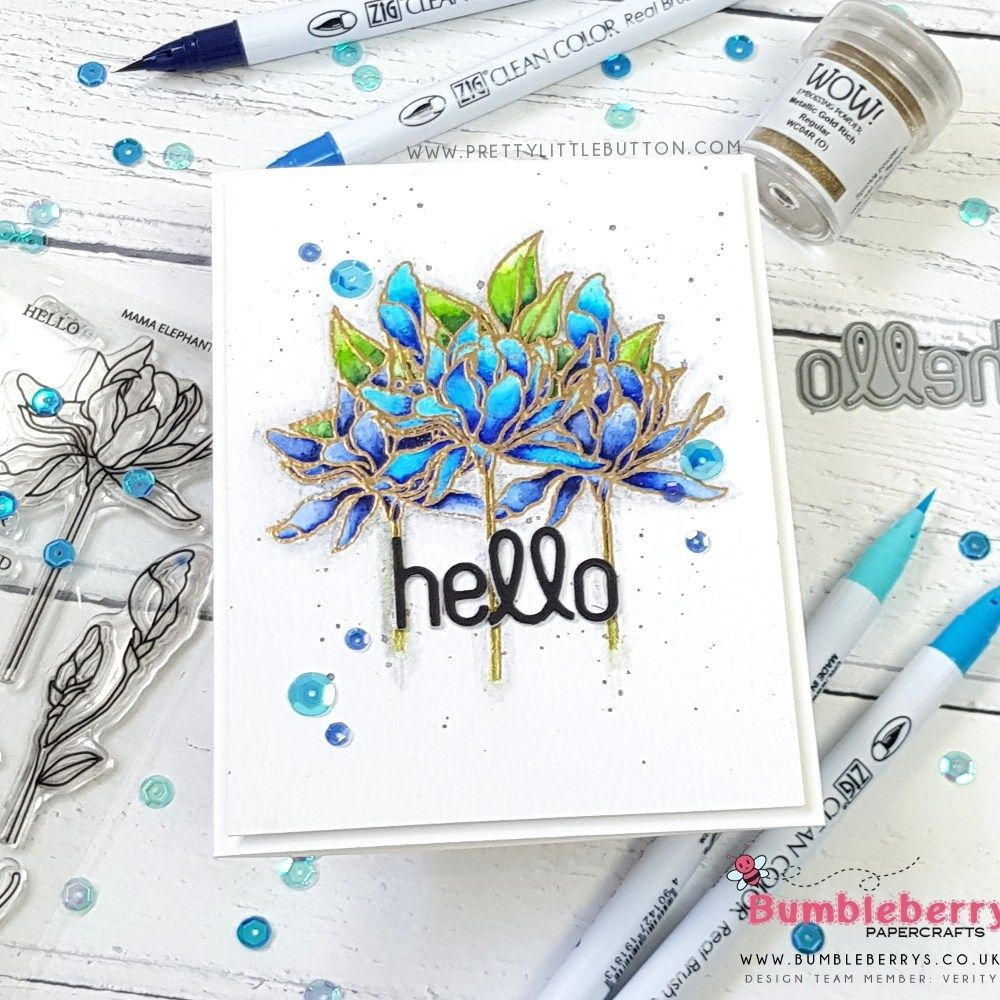 Masked Stamping With Heat Embossing Bumbleberry Papercrafts