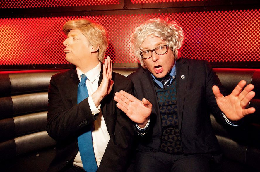 Watch two of the best impersonators in the business battle it out as Bernie Sanders (James Adomian) and Donald Trump (Anthony Atamanuik) in the greatest political debate of this election season!  Tune in tonight at 9 p.m. ET on Fusion.