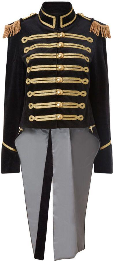 Pinky Laing Black Velvet Military Tailcoat Jacket - $1,425.00 ...