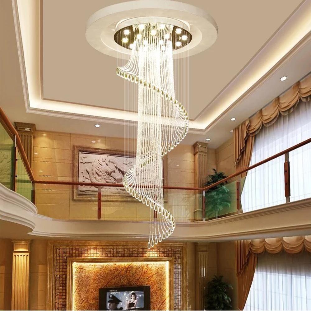 Modern Art Design Crystal Spiral Chandelier In 2020 Chandelier
