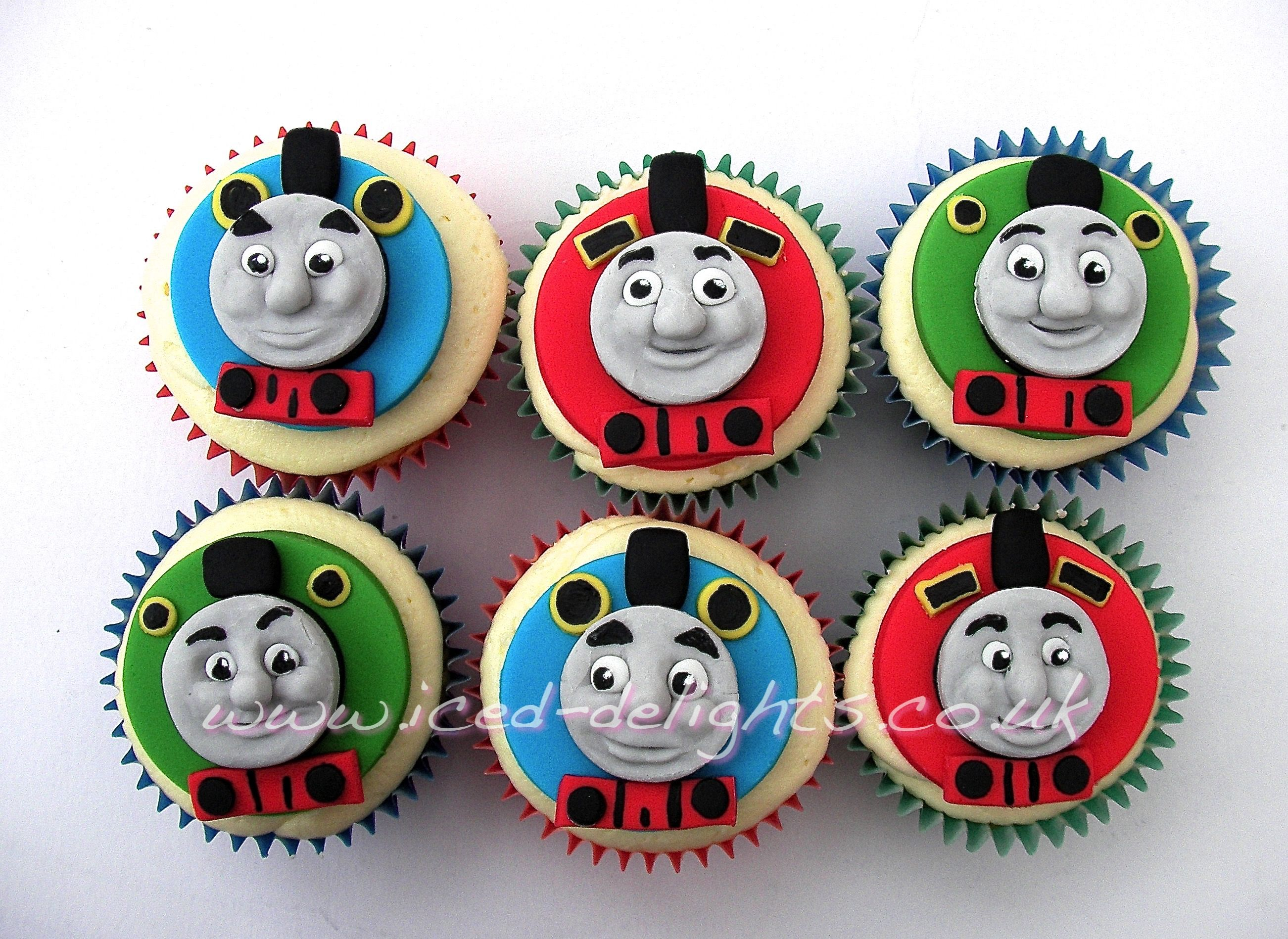 Thomas And Friends Thomas The Tank Engine Cup Cakes Designed By Iced