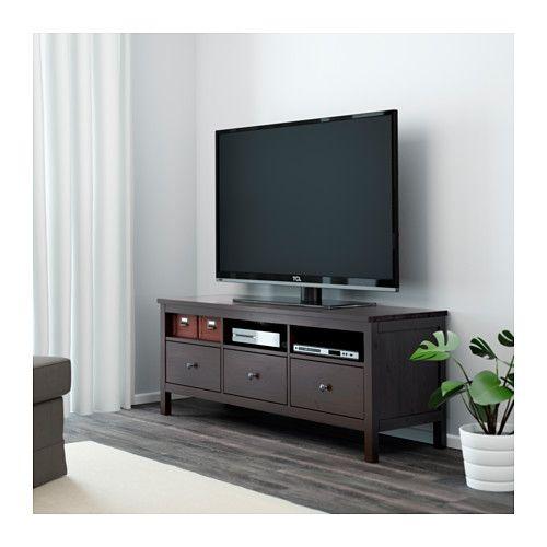 Hemnes Tv Meubel.Hemnes Tv Meubel Zwartbruin Tv Bench Ikea Tv Stand Living