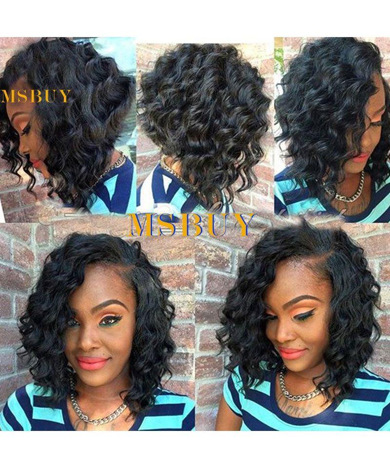 Top Quality 100 Human Short Hair Bob Wig Glueless Free Part Lace