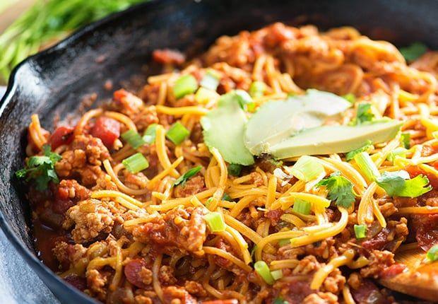 Photo of Taco Spaghetti Skillet Dinner