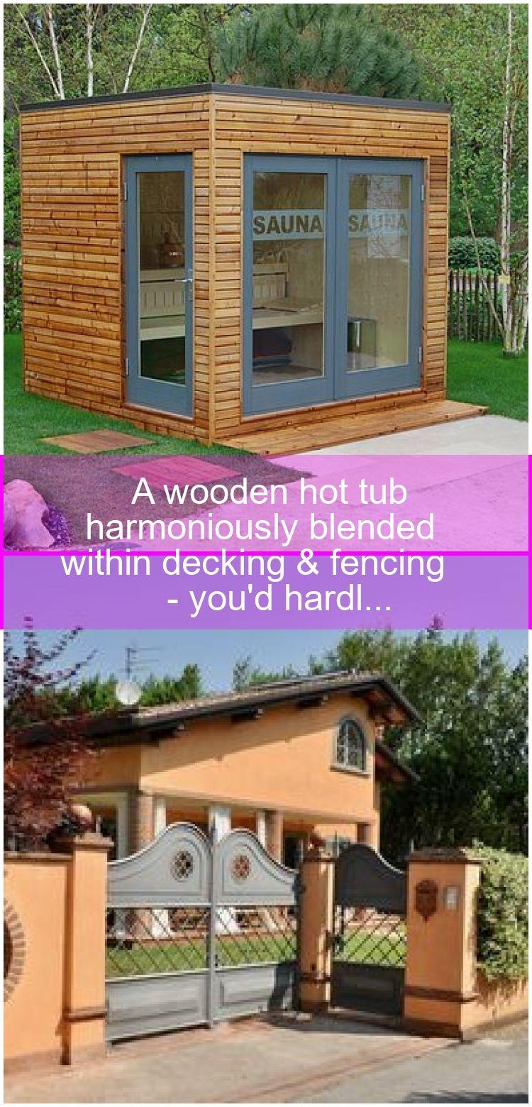 A wooden hot tub harmoniously blended within decking & fencing - you'd hardl...,  #blende... #hottubdeck