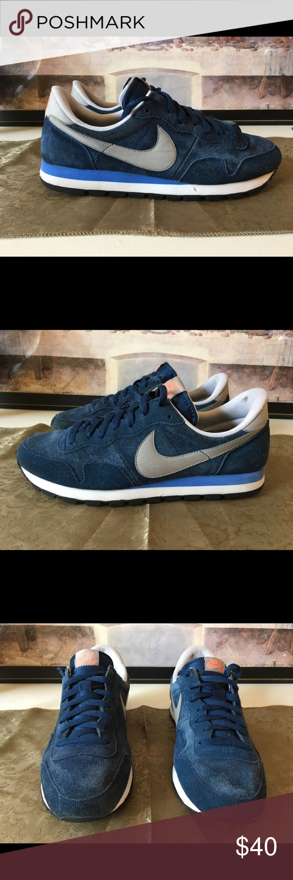 f62cea31ca709 Nike Air Pegasus 83 Suede Mens Size 10.5 My blue suede shoes!! Will show