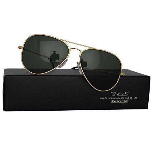 969cb87dde Italy made pilot titanium sunglasses w. corning natural glass truecolor  polarized (Green