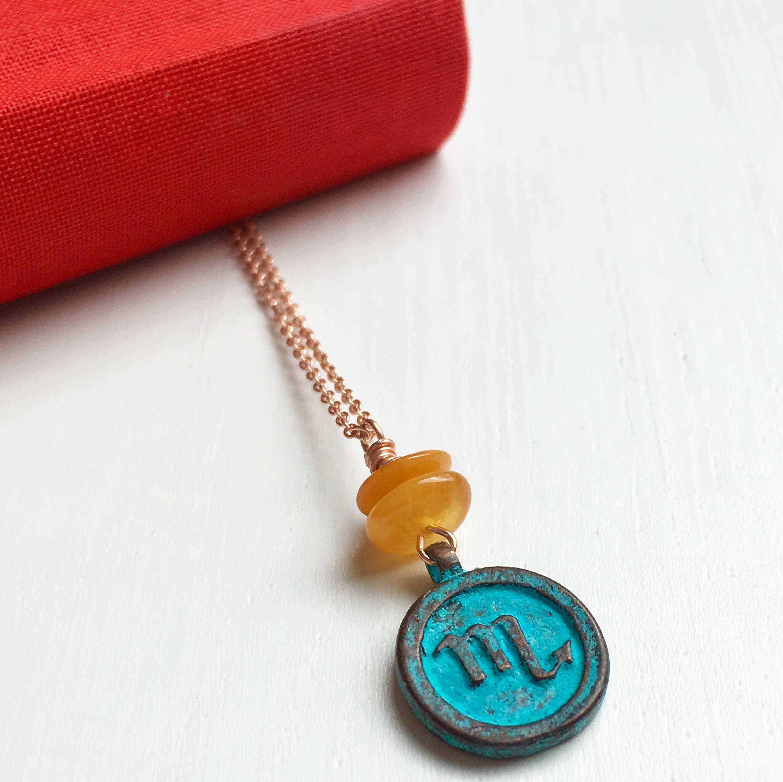 Scorpio Necklace, Zodiac Sign Necklace, Scorpio Gift ...