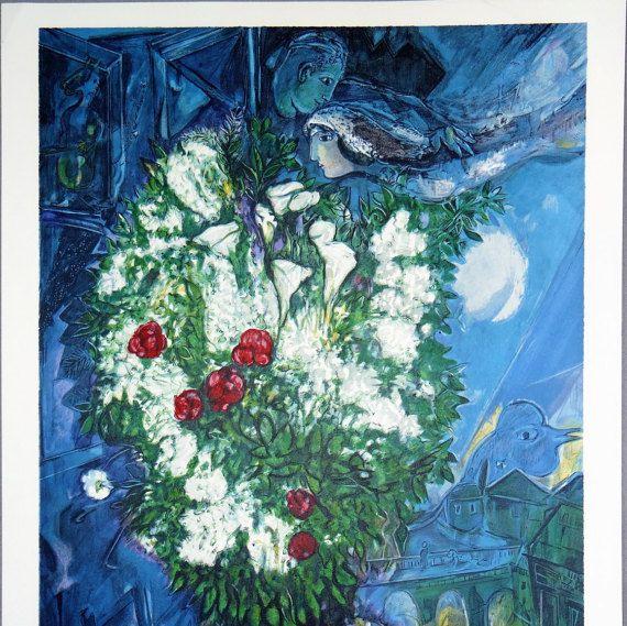 Marc Chagall  Valentines Ahava gift judaica by MarieArtCollection #artlover #etsyseller #integritytt @EtsyRT @EarthRT @HyperRTs