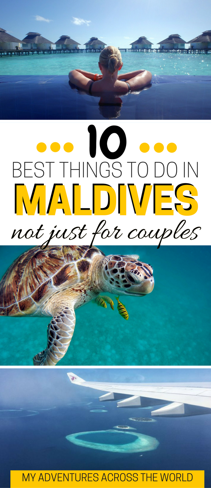 Who said that the Maldives are just for couples? Click for the 10 best things to do in Maldives with or without a partner! | What to do in Maldives | Maldives travel guide | Maldives travel tips  - via @clautavani