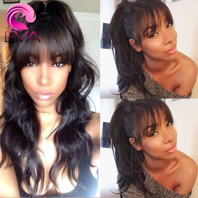 7a Wavy Human Hair Lacefront Wigs Brazilian Virgin Body