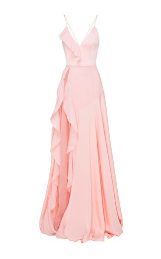 fb66b68d1426 Medium alex perry light pink phoebe satin crepe ruffle gown