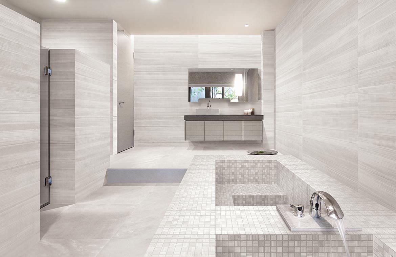 Floor tile / concrete / brushed - PLAYGROUND : TOKYO WHITE - ERGON ...