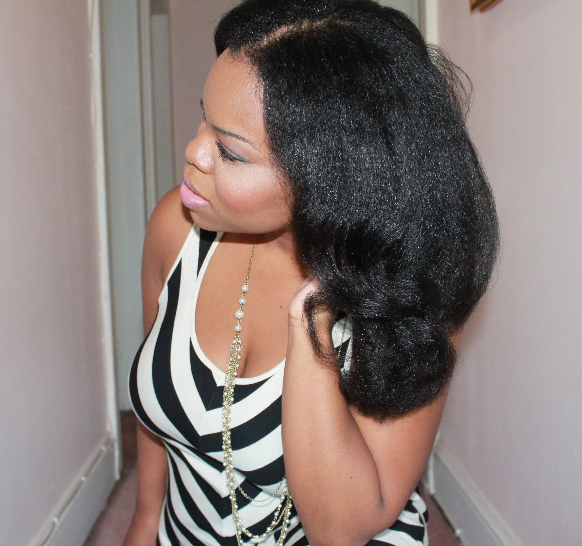 "Natural Hair"" Blow Out Flexi Rods = BIG HAIR with TEXTURE"