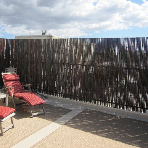 Mahogany Rolled Bamboo Fence Panel | Bamboo Fencer